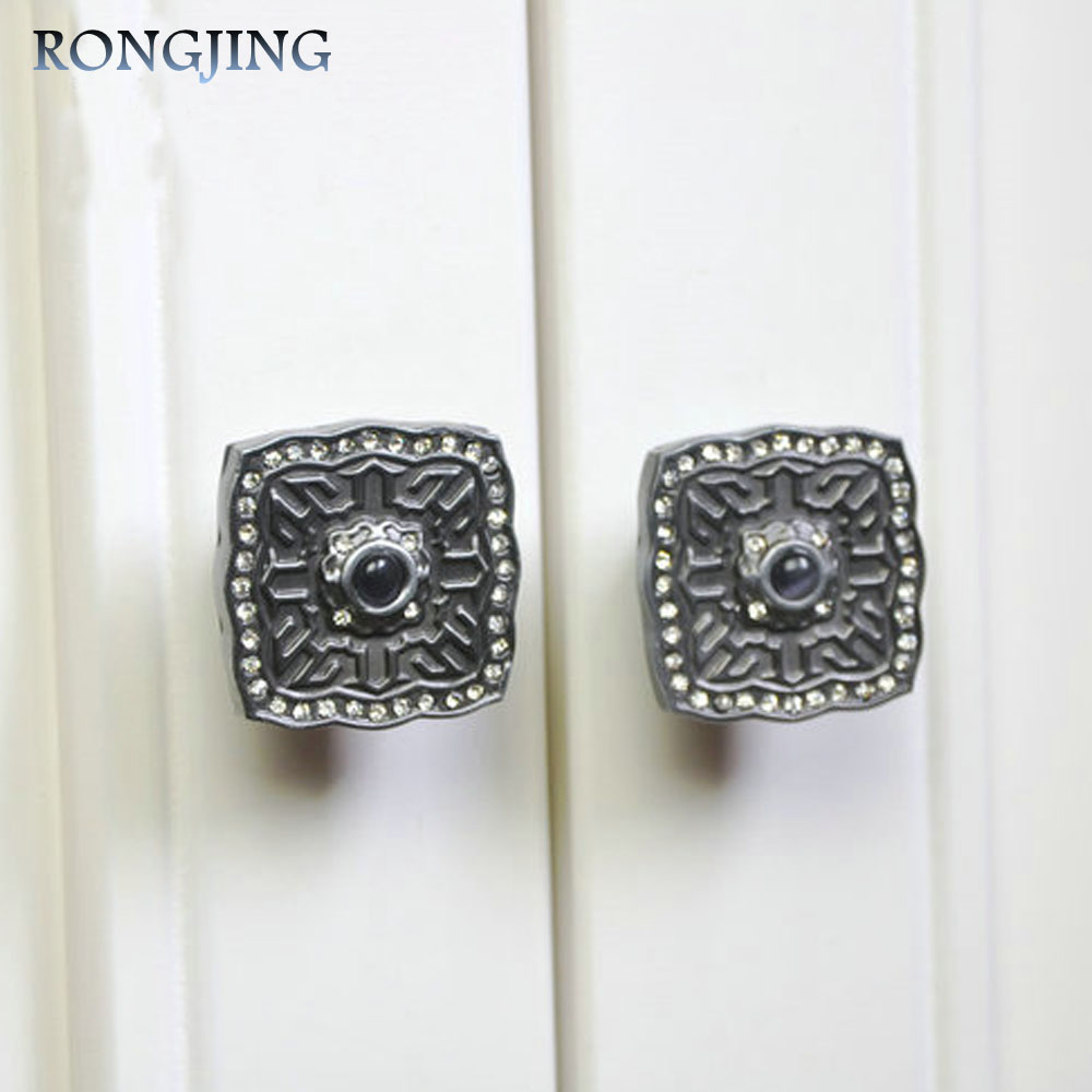 Гаджет  96mm/128mm Antique Palace Cabinet Drawer Handles With Crystal Kitchen Cabinet Handle Knobs Vintage Cupboard Closet Pulls Bars None Мебель