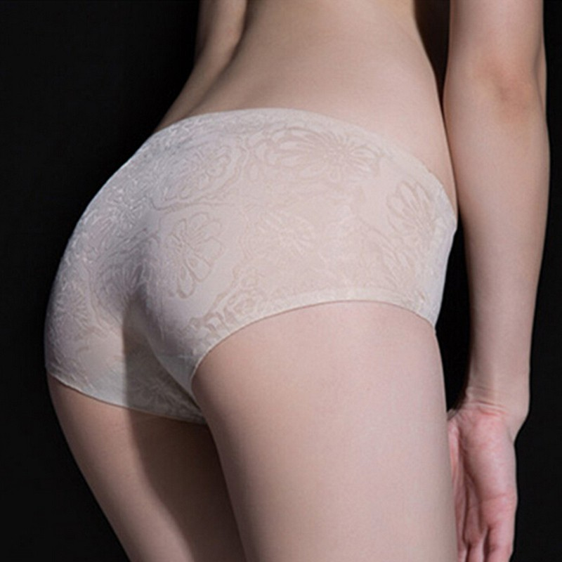Women Underwear Briefs Sexy Panties Full Transparent Lace Seamless String Plus Size(China (Mainland))