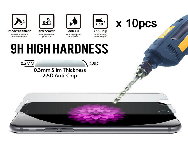 10Pcs/Lot 9H 2.5D 0.3mm Premium Tempered Glass Screen Protector For Apple iPhone 6s 6 4.7 Toughened protective film + Clean kits(China (Mainland))