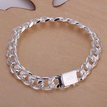wholesale 925 sterling silver bracelet,925 silver fashion jewelry charm bracelet 10mm chain Bracelet for women/men SB032(China (Mainland))