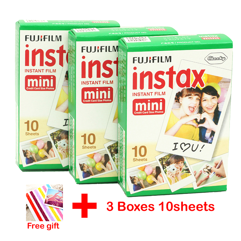 30 sheet Fujifilm Fuji Instax Mini 8 film for Fujifilm Instant Mini 7s 25 50s 90 Camera Fuji Instax White Edge Photo film Paper(China (Mainland))