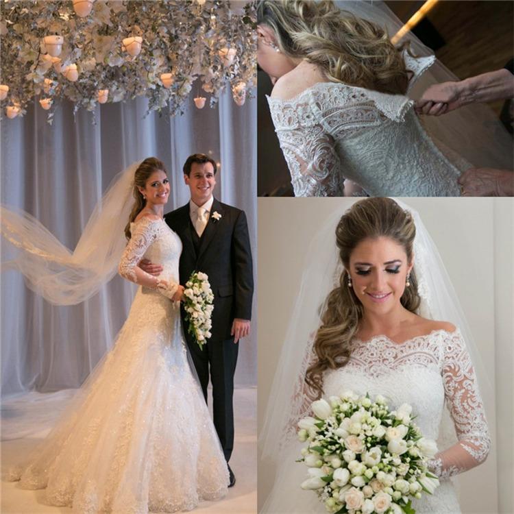 A Line Pretty Wedding Dresses Jewel Neck Back Zipper Applique Capped Party Dresses Long Wedding Gowns Floor Length A14(China (Mainland))