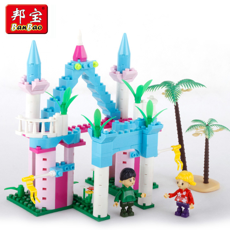 Construction Toys For Girls : Banbao building block toy princess series castle