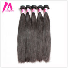 Buy 6A maxglam hair Indian Virgin Hair Natural Straight 10pcs lot wholesale straight Human hair extensions can colored for $176.90 in AliExpress store