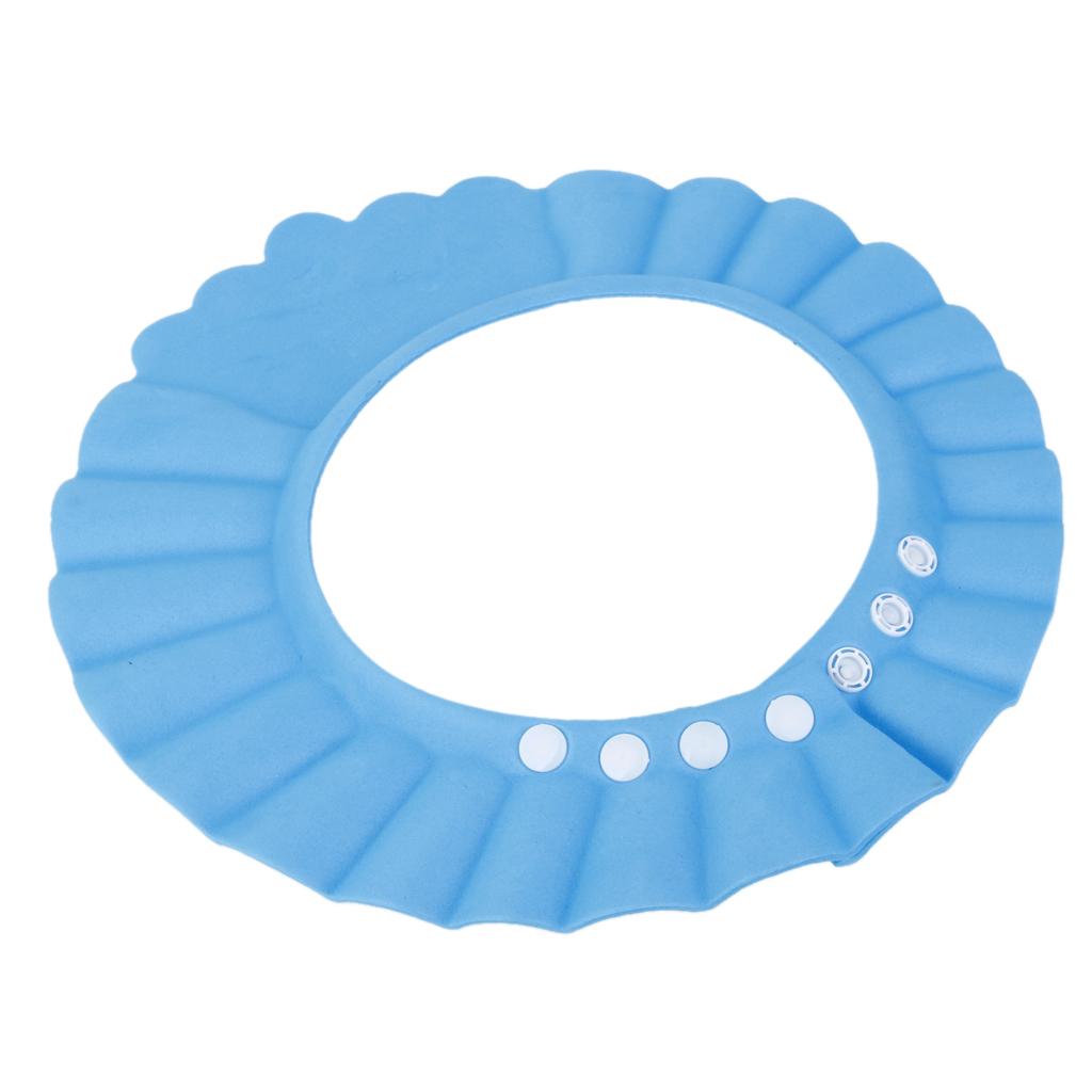 1Pc EVA Baby Kids Infant Shampoo Bathroom Bathing Bath Shower Cap Wash Hair Shield Waterproof Visor Hat 3Colors