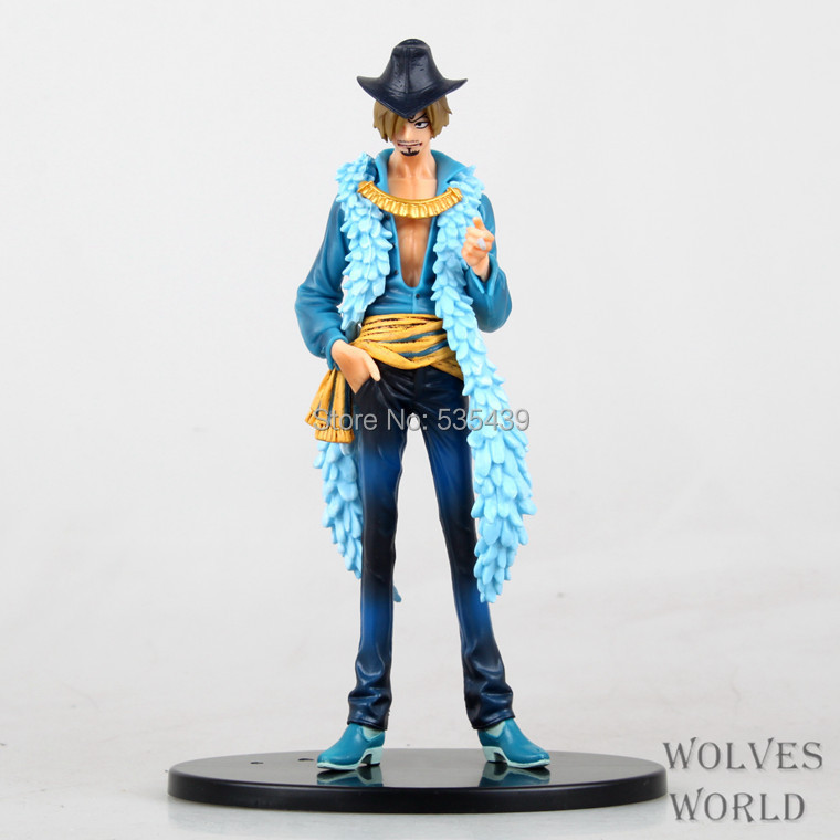 Hot ! NEW 18cm latest report One piece luffy Sanji action figure toys Christmas toy(China (Mainland))