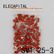Buy SV1.25-3 Red Furcate Terminal Cable Wire Connector Insulated Wiring Terminals electrical Lug crimp terminal 100PCS SV1-3 SV for $1.24 in AliExpress store