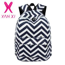 NEW 2016 Youth girl schoolbag preppy striped female shoulder bag mochilas escolares femininas high quality women canvas backpack(China (Mainland))