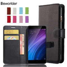 Buy Xiaomi Redmi 4 Pro Prime / Redmi 4 Lichee Pattern Wallet High Flip Phone Case Cover Bags Card Slots PU Leather Case for $3.54 in AliExpress store