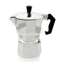 падение доставки новых Алюминиевая плита топ 3 чашки континентальной Электрический чайник машина Кофеварка эспрессо кофеварка b14 tk0961