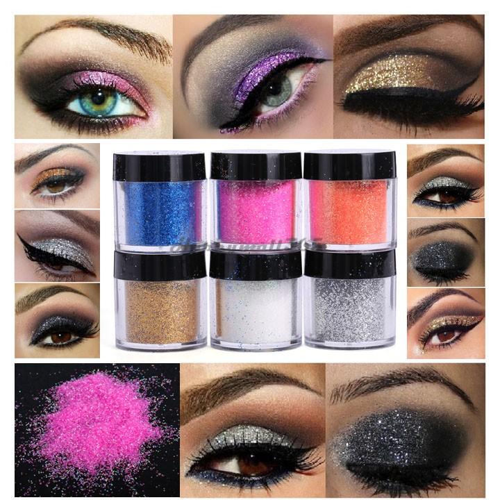 2015 New 6 Piece Cosmetics Eye Shadow Color Makeup Pro Glitter Eyeshadow Powder Palete One Set Professional Makeup US51(China (Mainland))