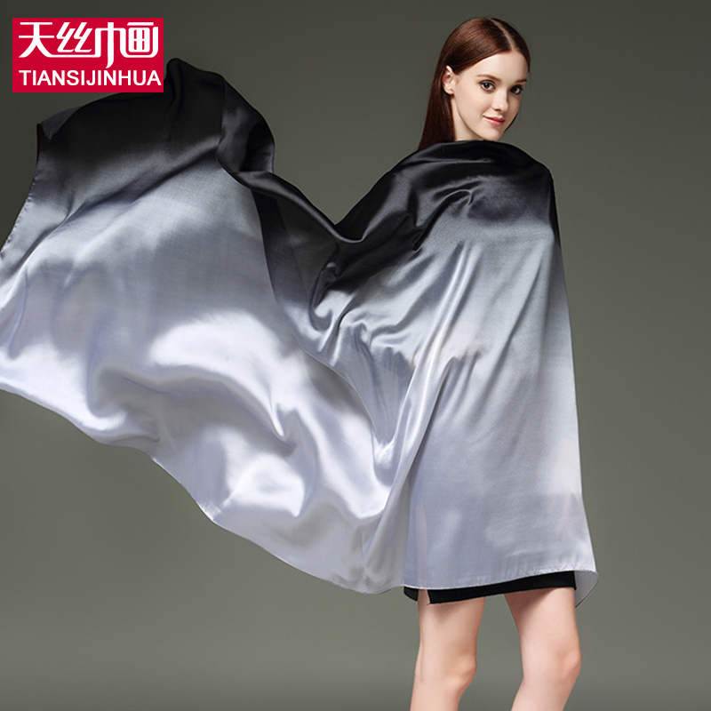 2017 Spring Natural Silk Women Scarf Shawl Female Pure Silk Scarves Wraps Plus Size Bandana Long Beach Cover-up Pareo hijab(China (Mainland))