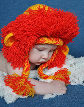 Men and women hand-woven wool baby child lion cartoons can be customized to any size dress hat hat message Remarks