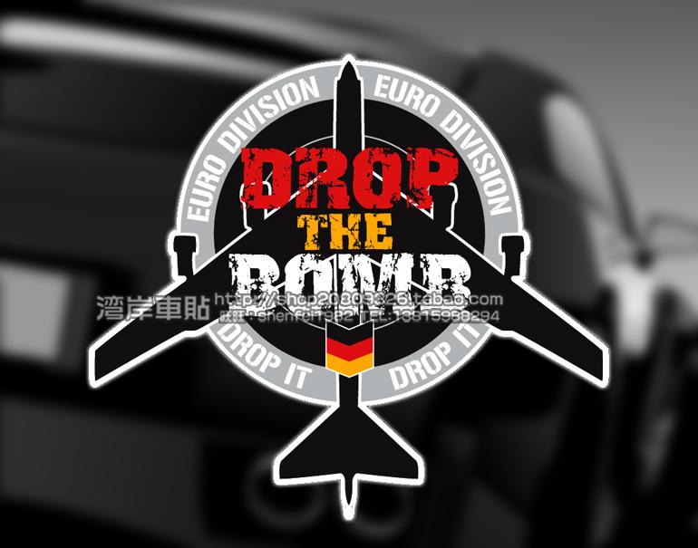 DROP IT! car stickers BOMB bombers German Graffiti car stickers , Drop Shipping(China (Mainland))