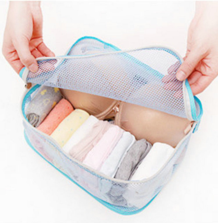 High Quality Cosmetic Bags Style Storage Travel Portable Underwear Cases Bra Organizer New(China (Mainland))