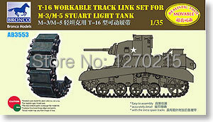 Bronco 1/35 AB3553 M3/M5 Stuart T-16 Workable Track Link(China (Mainland))