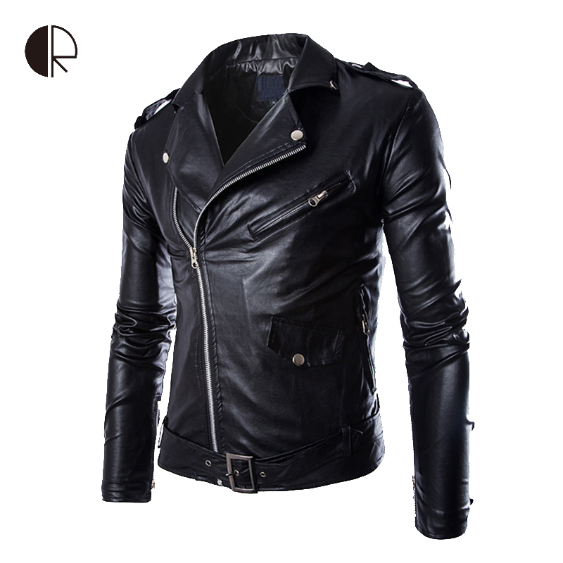 2015 New Fashion Mens Leather Jackets Brand Motorcycle Leather Jackets Men Jaqueta De Couro Masculina Zip Leather Jackets