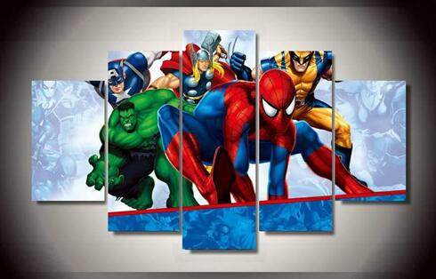 Excellente qualit avengers encadr e affiche promotion for Image encadree decoration