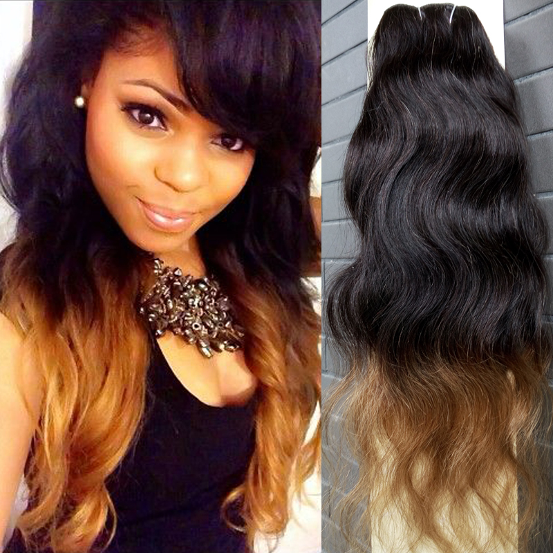 Burgundy Weave Bundles Ombre Human Hair Extensions Bundles With