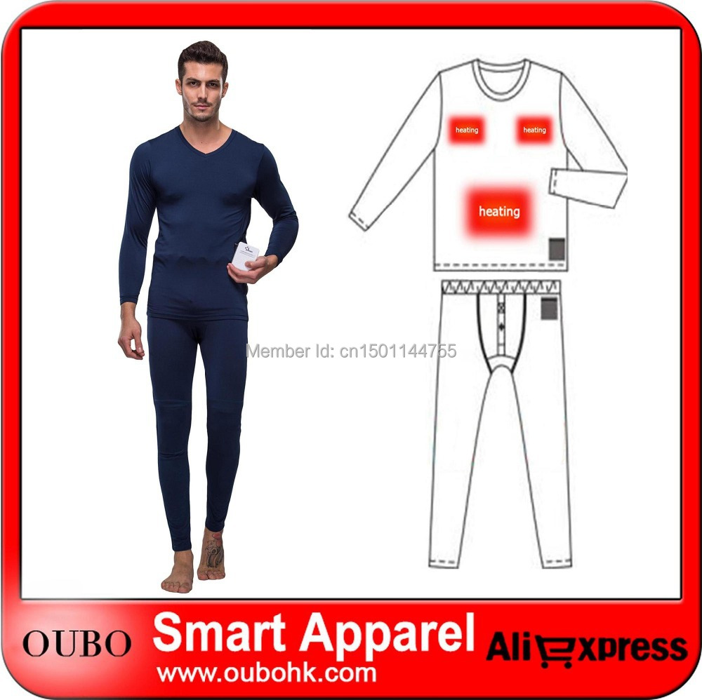 Buy Male Electric Heating Thermal Underwear Set Heated Clothing ...