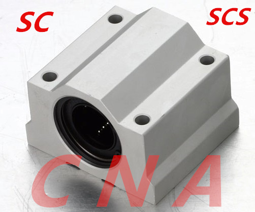 4 pcs SC12UU SCS12UU Linear motion ball bearings slide block bushing for 12mm linear shaft guide rail CNC parts(China (Mainland))