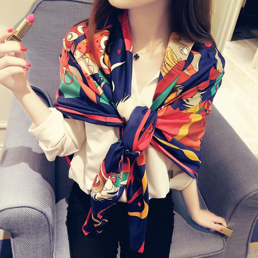 2015 New Free Shipping Cotton Silk Shawl Scarf High Quality Fashion Folk Twill Bird Printing Bandana Designer Scarfs For Womens(China (Mainland))