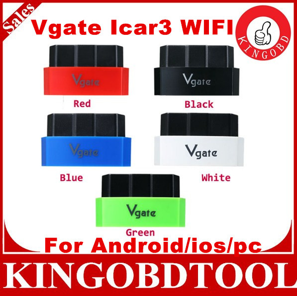 10pcs DHL Free Vgate iCar 3 OBD2 WIFI OBD ELM327 WIFI iCar3 Car Diagnostic Scan Tool Support All OBDII Protocols PC/Android/IOS(China (Mainland))
