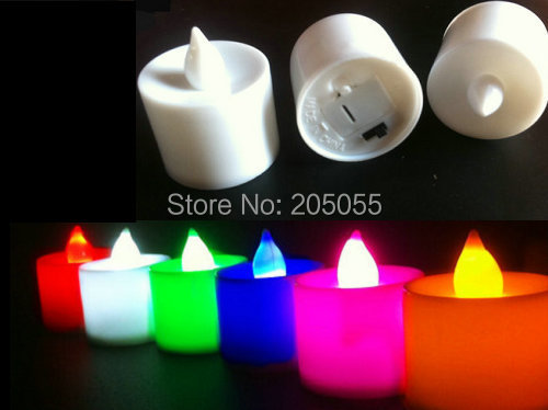 36pcs/lot 42mm Height Battery operated flameless led tea light for wedding Xmas Decor candle-7 COLORS optional(China (Mainland))