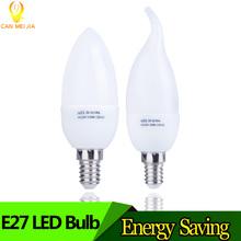 Buy E14 Led Candle Bulb Energy Saving Lamp Lights 3W 5W E14 220V LEDs Chandelier Light Spotlight Bombilla Led Home Decoration for $1.05 in AliExpress store