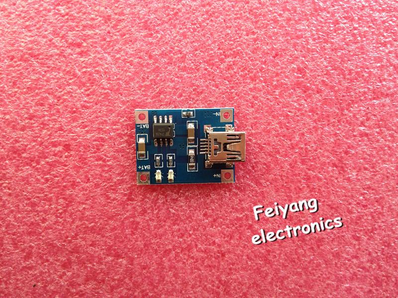 TP4056 1A Lipo Battery Charging Board Charger Module lithium battery DIY Mini USB Port(China (Mainland))