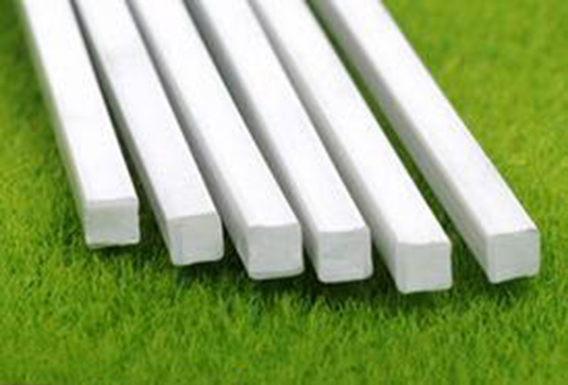 10 pcs 6mm * 250mm 25cm ABS Styrene Plastic Square Bar Rod Architectural Model Layout Making Materials #A106h(China (Mainland))