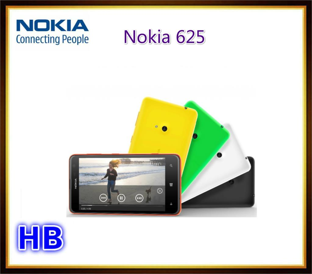 Unlocked Nokia Lumia 625 Cell phone With Windows Mobile 8.0 OS 8GB ROM 3G Wifi GPS 5MP Camera mobile Phone Free Shipping(China (Mainland))