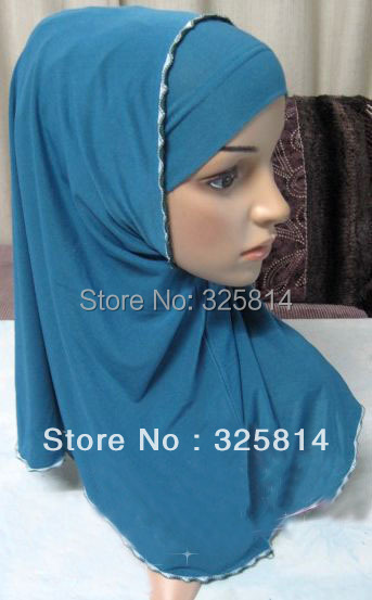 Promotion!!! Double Layer Solid Color Hijab,Concise Comfort ITY Scarves,Two-Piece Muslim Hijabs,Islamic Scarfs Free Shipping