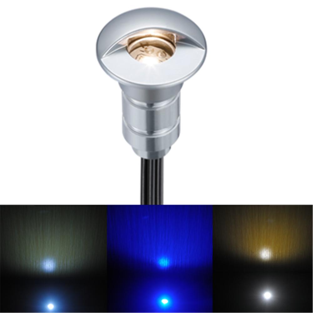 Waterproof IP65 0.6w Dusk Garden Lamps 12V Laminate Floor Lamp for Outdoor LED Underground Light Aluminum Patio Paver Grondspot(China (Mainland))