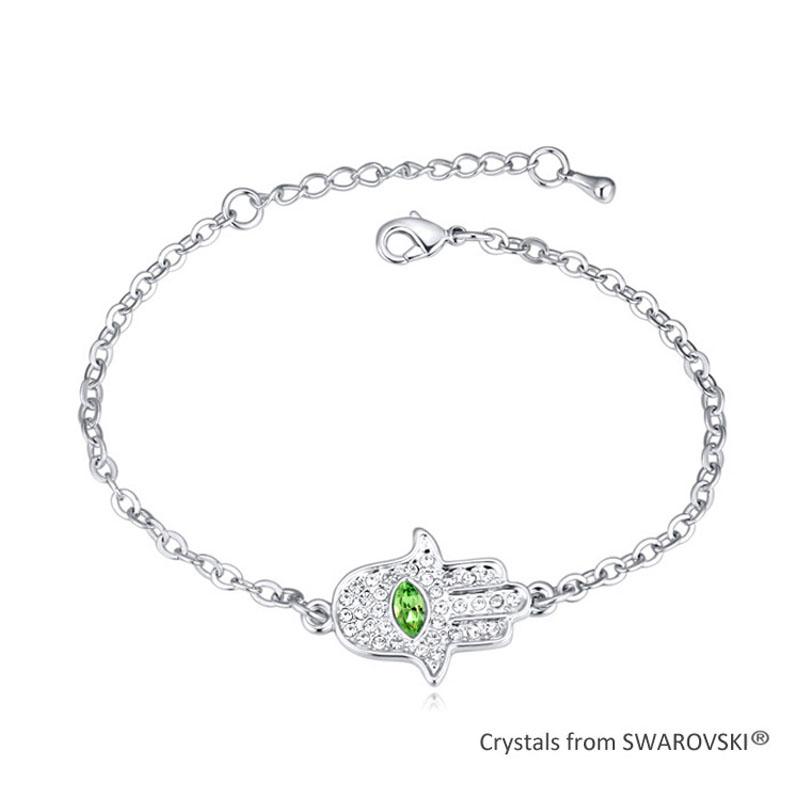 2015 Vintage Fatima Hamsa Bracelet Bangles Made with Swarovski Elements Crystal from Swarovski Hand Bracelet Pulseras(China (Mainland))