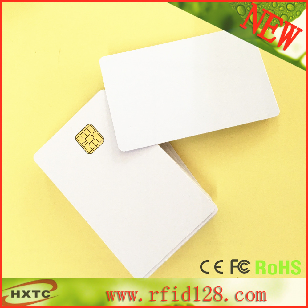 10PCS/Lot ISO7816 PVC Contact Blank Smart IC Chip Card #SLE4428 With 1K Memory For ACR38 reader writer(China (Mainland))