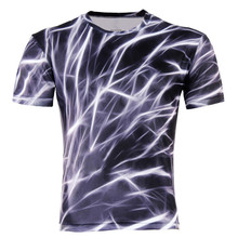 2015 Men Fashion 3D Animal Creative T-Shirt, Lightning/smoke lion/lizard/water droplets 3d printed short sleeve T Shirt M-4XL