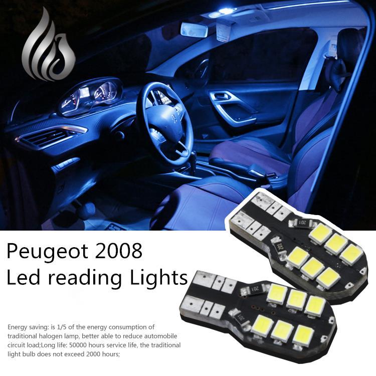 Фары из светодиодов индивидуальное освещение интерьер купол лампа 6 шт. / lot аксессуары для Peugeot 2008