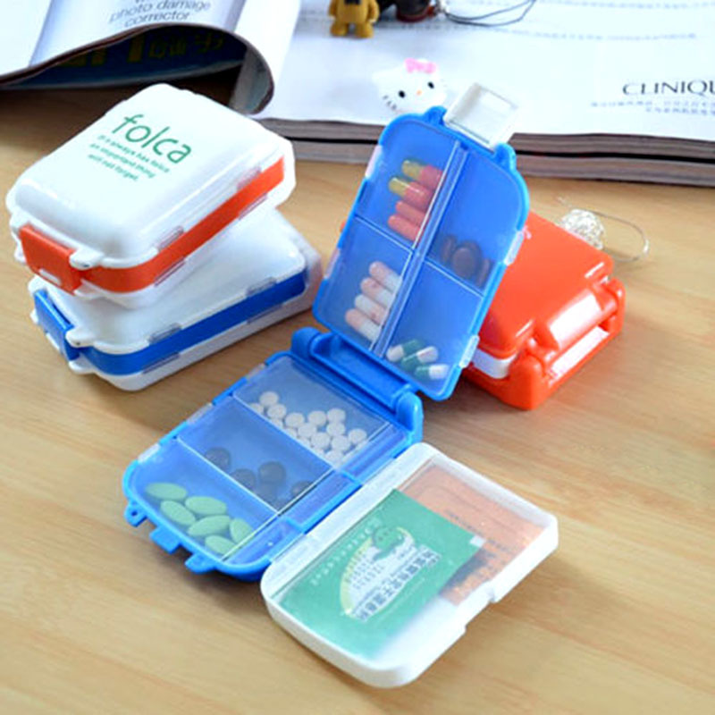 New hot promotion pills vitamins portable plastic box container for travel household#ZH065(China (Mainland))