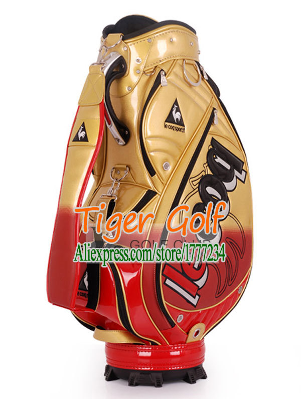 Hot sale New Golf bag High quality PU Golf staff bag with 5 colors 9.5 inches Golf equipment Free shipping(China (Mainland))