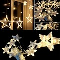 12 Stars 168 Led Star Curtain Lights Waterproof Christmas star Lights Decoration for Wedding Christmas Holiday