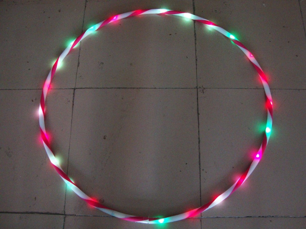 colorful led 70cm sports equipment lose weight with magnetic health hoop(China (Mainland))