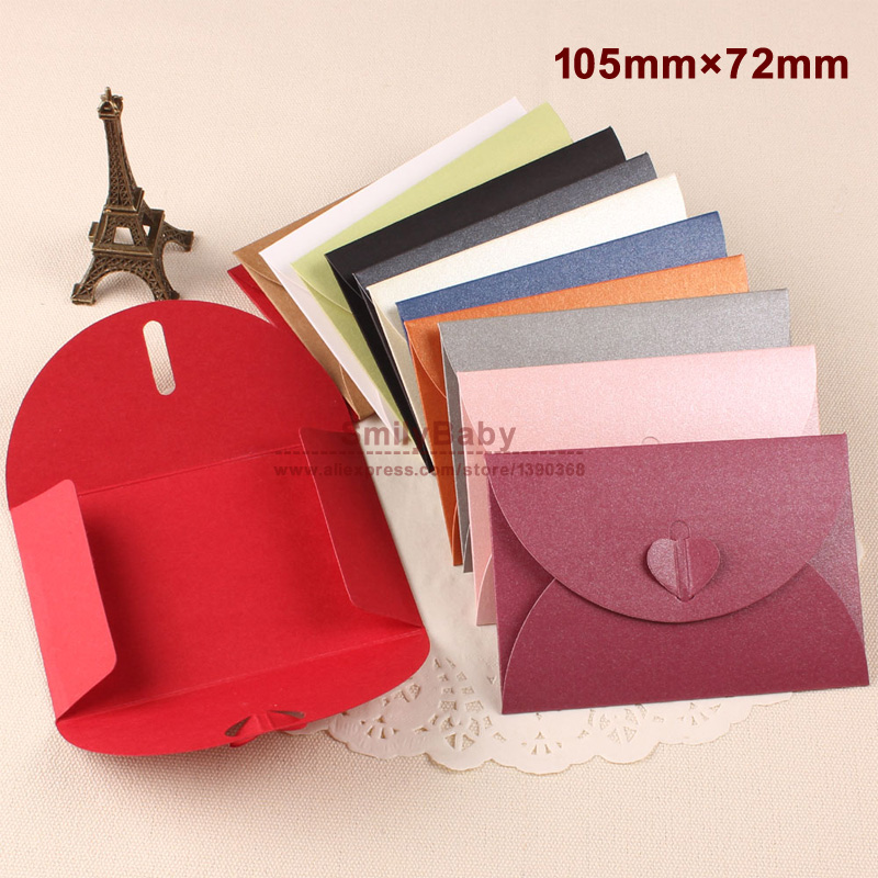 50pcs/lot 105mm*72cm small Lovely iridescent paper envelope colorful DIY gift envelope message card cover creative stationery<br><br>Aliexpress