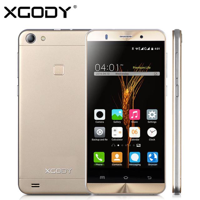 XGODY X15 5.0 дюймов Android 5.1 3 Г Смартфон Разблокирована MTK6580 Quad Core 1 ГБ RAM + 8 ГБ ROM 2.0MP/8.0MP Dual SIM Мобильный Телефон