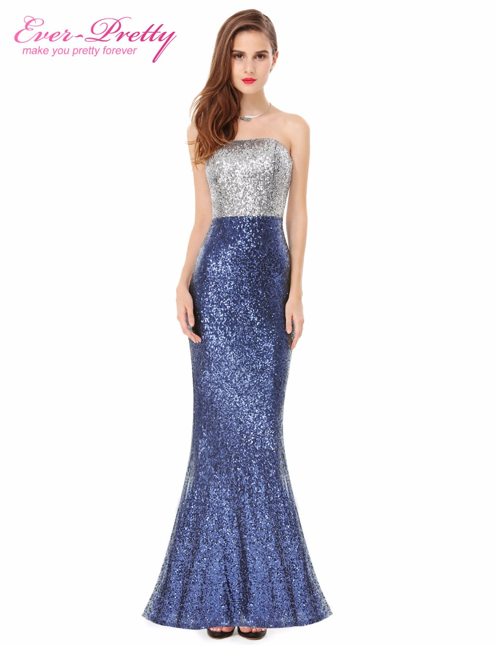 Prom Dresses Ever Pretty Sexy Women Strapless Sequins Long 2016 HE08372 Special Occasion - official store