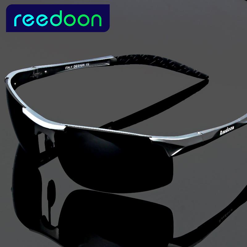 2017 polarized Men's sunglasses aluminum magnesium frame car driving sunglasses men sports for fishing golf 8177(China (Mainland))