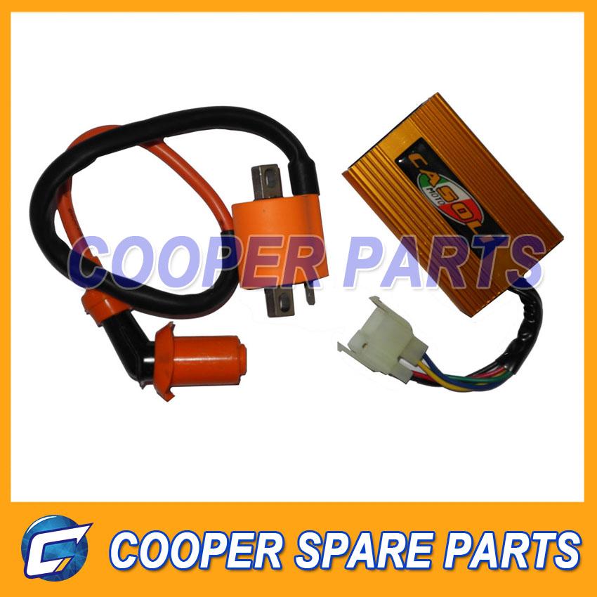 CG 125cc 150cc,200CC High performance 6 pins AC Racing CDI box + racing Ignition Coil(China (Mainland))