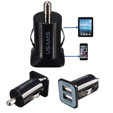 Cheapest Top Quality Auto Car Charger Mini Dual 2 Ports USB Socket Adapter for iPhone 6 Plus 5C 4 SE Phones all Digital Decives
