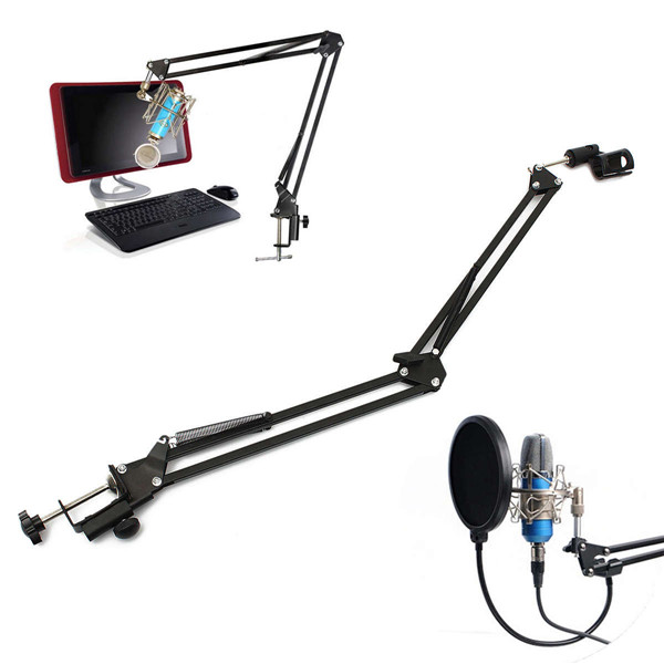 Pro Mic Stand Microphone Scissor Arm Suspension Boom Mount Shock Holder Studio Sound Broadcasting(China (Mainland))