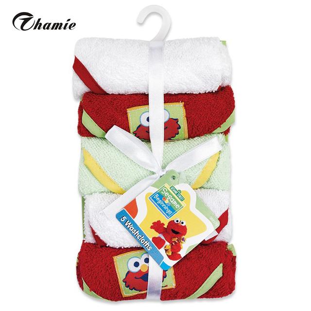 5 упак. ребенка мочалкой кормление полотенца лица Washers рук протрите ткань мытья ...